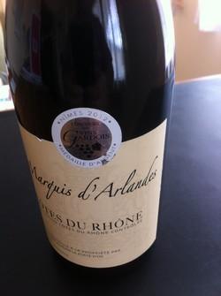 Vino Côtes du Rhone Marquis d'Arlandes