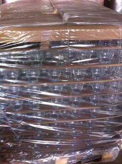 Palettes de verre en destockage